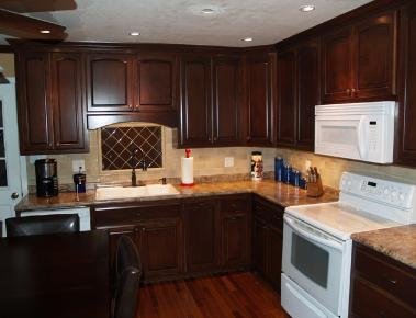 Delightful Using Maple With A Dark Red Brown Mahogany Stain. See The Special Features  Of The Cabinets By Clicking On The Picture. Good Ideas